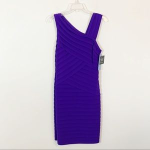 NWT London Times • Purple Shutter Tuck Dress